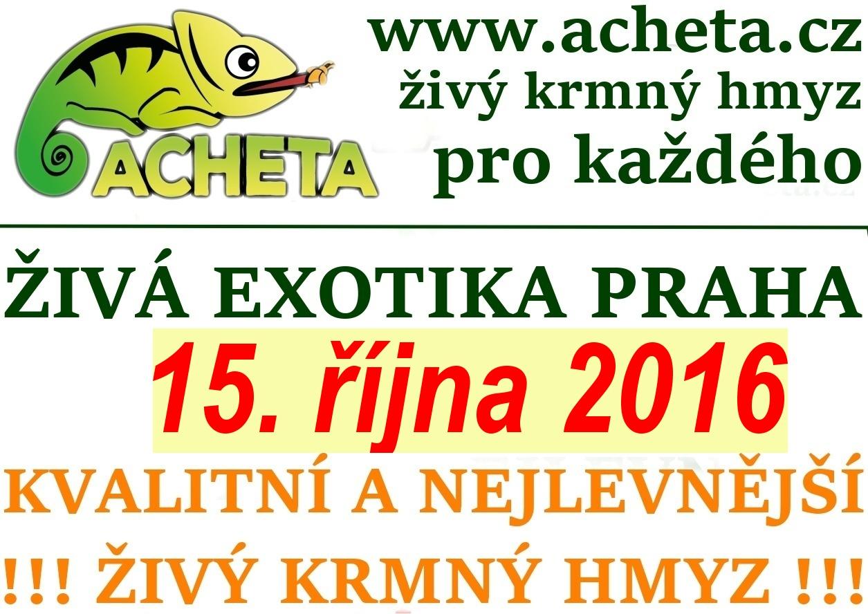 ŽIVÁ EXOTIKA Praha - Holešovice v sobotu 15. října 2016
