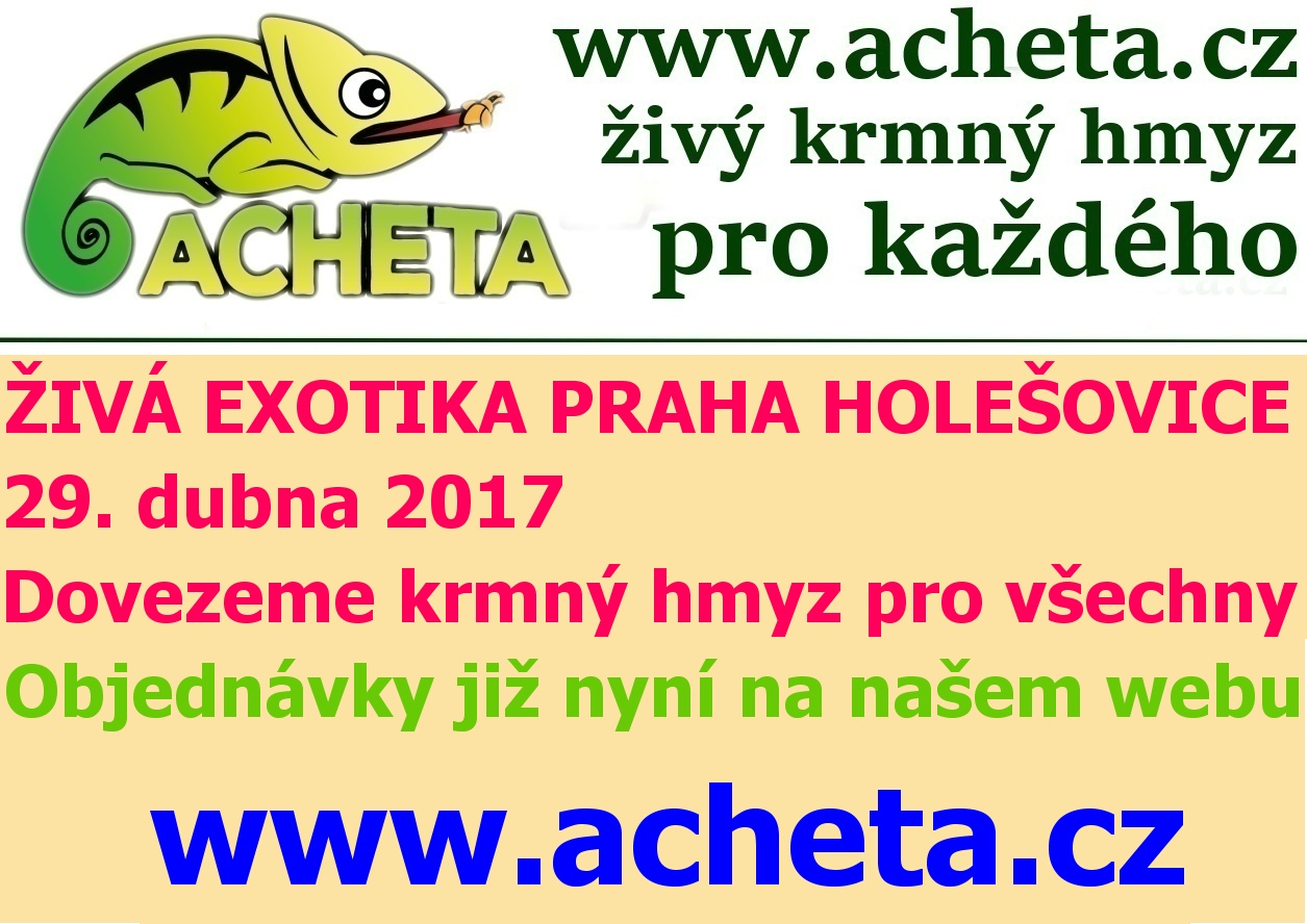 ŽIVÁ EXOTIKA Praha - Holešovice v sobotu 29. dubna 2017