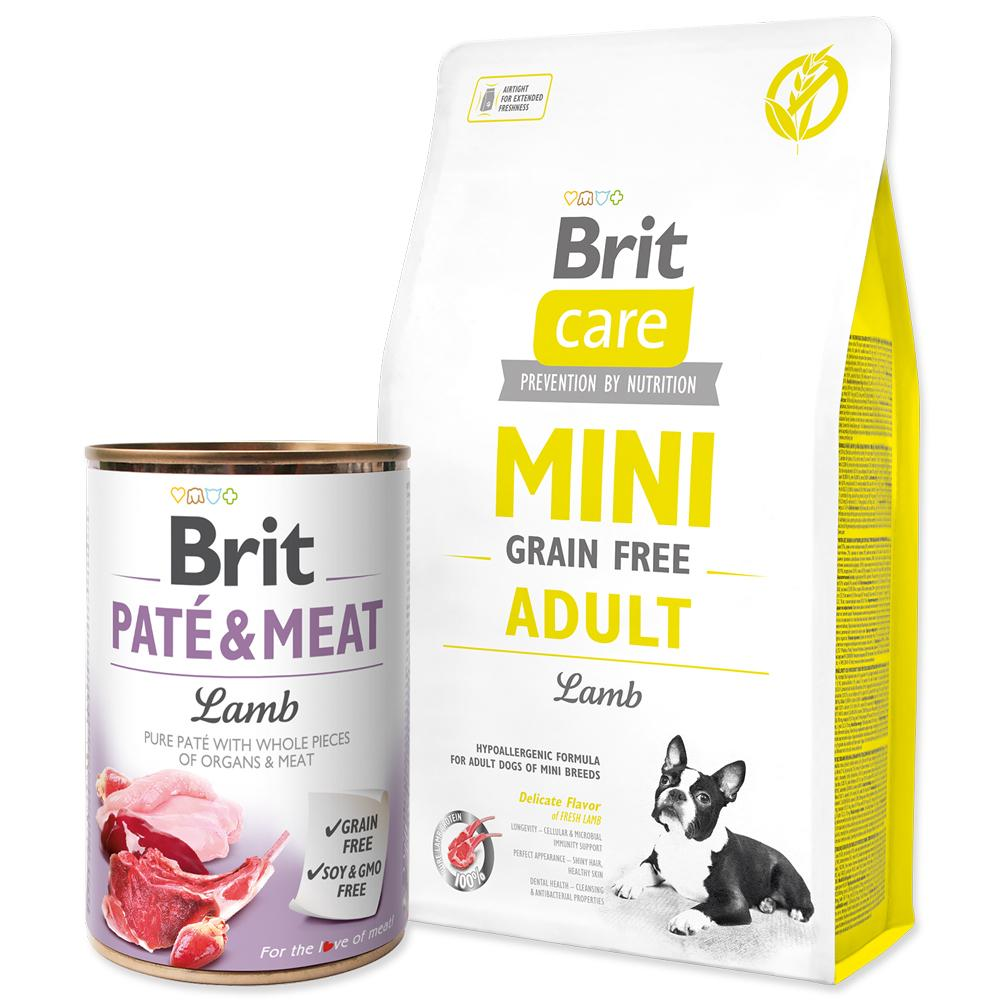 BRIT Care Dog Mini Grain Free Adult Lamb + ZDARMA konzerva (2,4kg)