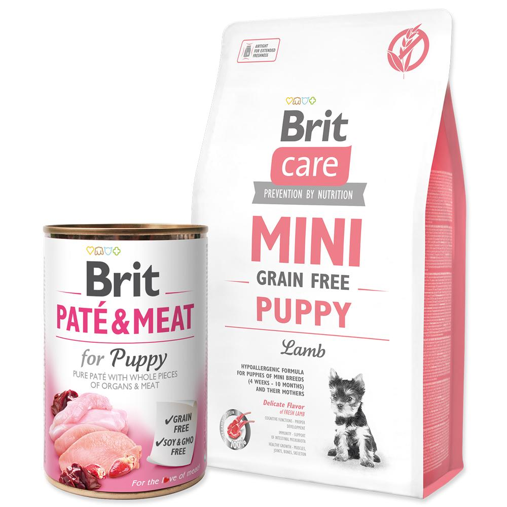 BRIT Care Mini Grain Free Puppy Lamb + ZDARMA konzerva (2,4kg)